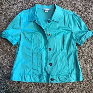 Christopher&Banks Button Up short Sleeved Blouse